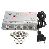 Wholesale universal Standard AC V Hz Ways CATV Cable TV Signal Amplifier AMP Video Booster Splitter Adapter Tools set Pro US Plug