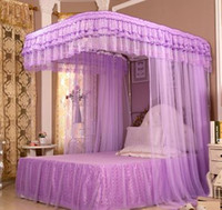 Wholesale Retractable lace Mosquito Net Bed Curtains Palace Sleeping Bed Canopy Nets Cortinas Mosquitera bedding