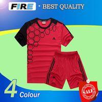 blank football jersey - Top Quality Blue Red Blank black Soccer jerseys Uniforms Camisa Maillot De Foot black Football Shirts