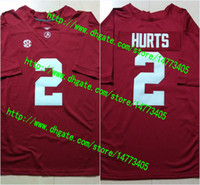 alabama college football - 2 Jalen Hurts Bo Scarbrough Ridley Alabama Crimson Tide College Football Jerseys New Style Stitched Jersey S XXXL