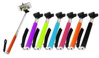 Wholesale Z07 Extendable Handheld Monopod Selfie Stick Cell Phone Clip holder For iPhone Samsung Sony Camera Multiple Colors
