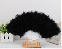 Wholesale Feather fan belly dance dancing props accessories feather fan veils turkey fans stage costume wear for performance