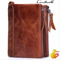 Wholesale Clip Wallet For Men - Cowhide Leather Men Wallet Cowhide Leather Wallet For Men Short High Quality Business Money Clip Wallet Card Holder Men Purse Out083