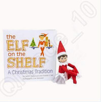 Wholesale 21 cm Hard Cover Books Christmas Elf Soft Books for Kids Go To School And Christmas Gift CCA5202