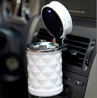 Wholesale colors Car Accessories Portable LED Car Ashtray High Cigarette Cylinder Holder Car Home Office Use Mini cinzeiro cendrier