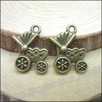 antique stroller - Vintage Charms Stroller Pendant Antique bronze Fit Bracelets Necklace DIY Metal Jewelry Making
