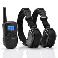 Wholesale Rechargeable Waterproof Dog Pet Products Training Collar Shock Vibrate LCD Remote for Dogs m LV for Dogs Pets overall belts