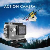achat en gros de hd caméra sport mouvement-2016 Waterproof 2 pouces H9 Action Camera 170 ° 4K Sport DV Ultra HD LCD Wifi Video Motion Enregistrement Affichage appareil photo Prise de vue