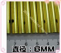 50pcs 9cm tubes vent carillon de diamètre en aluminium pur Campanula métallique bricolage tube creux 0.6cm or décoration décoration