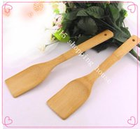 bamboo stick for plants - 2pcs Long handle shovel bamboo household non stick cookware bamboo shovel for kitchen tools