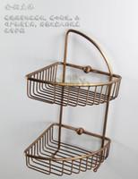 Wholesale antique bronze color Brass bathroom shelves ORB finish