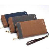 band chain wallet - High Quality Men s Long Wallets Canvas Handbag Fashion Zipper Card Holder Male Purse Wallet Band Luxury Clutch Men Wallet