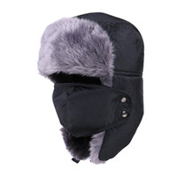 Wholesale Winter Hat Bomber Hats For Men Women Outdoor Thickening Cotton Fur Winter Earflap Keep Warm Snow Caps Russian Ski Bomber Hats