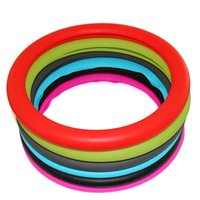 Wholesale Muti Color Leather Texture Car Auto Silicone Steering Wheel Golve Cover