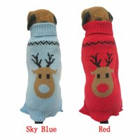 accessories cats home - Happy home Dog Clothing Pet Dog Cat Clothes Pet Winter Woolen Sweater Knitwear Puppy Clothing Warm Deer Head High Collar Coat