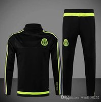 best training pants - DHL Best Quality Copa Mexico Jerseys training suit survetement chandal football clothes with long sleeve tight pants tracksuits Jersey
