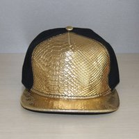 ball python - Foster a crocodile baseball cap python grain black gold stitching hip hop hat lovers it hat for men and women