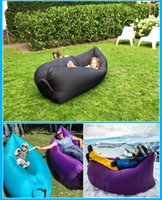 beach deck chairs - 2016 Newest Style Casual Sofa Deck Chair Inflatable Sleep Camping Suitable Beach Home Nylon Soft Sleeping Bag Outdoor Gear DHL