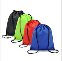 backpacks for boys - Portable Waterproof Drawstring Backpack Polyester Camping Shoulder Bag For Sports Hiking Travel Large Capacity Drawstring Bag