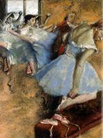 abstract figurative art - figurative art posters canvas painting mural prints giant poster home decorative art Edgar Degas dancers group portrait