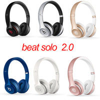 Wholesale Beats Solo2 Bluetooth Headphone Active Collection HD Stereo Wireless Mobile Cellphone Solo Earphone Headset Used Refurbished