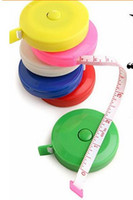 Wholesale Random Color New Retractable Ruler Tape Measure inch M for Measures Sewing Cloth Dieting Tailor Promotion