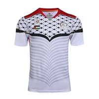 Wholesale Top quality new Palestinian rugby jerseys Thailand quality Palestinian white football jersey