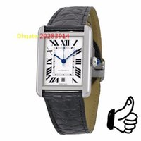 automatic tank watch - Original BRAND Top quality Luxury W5200027 Tank Solo Automatic Black Leather Watch Mens Men s Watch Watches