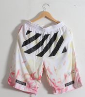Wholesale 2016 TOP version Off White C O Virgil Abloh Pyrex Vision KTZ Kanye West Basketball Shorts Men s Shorts Casual Beach Shorts