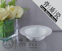 Wholesale 6 quot Simple Round bowl Fine bone china salad bowls soup Bowl fine porcelain ceramics Shara Cake bowl Dessert bowl home Housewear Furnishings
