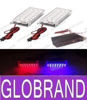Wholesale car x led strobe light Red Blue Yellow White volts Car Truck x22 LED flashing lamp emergency GLO378