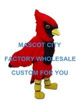 beautiful fun - Beautiful Red Cardinal Red Parrot Red Bird Mascot Costume Adult Size Cool Fun Party Fancy Dress Cosply Costumes SW596