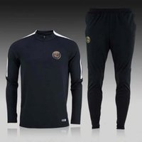 Wholesale Sleeve Flash - NEW 2016 2017 paris PSG tracksuits survetement football clothes long sleeves tight pants sportswear PSG winter training suit free shipping