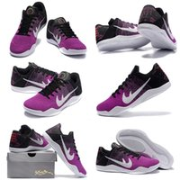 Cheap (With Shoes Box) High Quality 11 XI BHM Black History Month 2016 Collection Pink Black White Men's Basketball Sport Kobe 11 Trainers Shoes