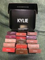 Wholesale kylie lip gloss Kylie Lip Kit Kylie Jenner Lip colors GINGER KRISTEN MALIBOO LEO DIRTY PEACH LOVE BITE BROWN SUGAR EXPOSED DHL