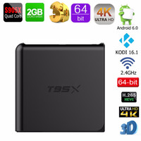 Wholesale Genuine T95X GB GB Amlogic S905X Quad Core Android G Wifi M LAN H KODI Loaded