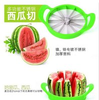 abs cutting tools - 21 CM Diameter ABS Stainless Steel Melon Cutter Watermelon Slicer Kitchen Cutting Apple Mango Tools Multifunctional Fruit Divider