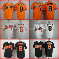 baltimore cheap - 2016 New Baseball Jersey Cal Ripken Baltimore Orioles Jerseys Throwback White Orange Black Embroidery S XL Cheap
