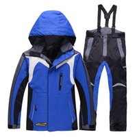 Wholesale ROSSIGNOL boy girls ski jacket and pants set winter snowboard clothes thermal cotton padded kids snow suits waterproof ski coats