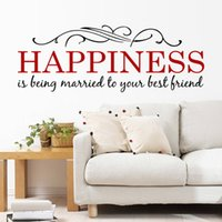 graphic vinyl plastic characters 2015 happiness quotes home decoration wall sticker decals decor wall stickers living - Home Decor Quotes