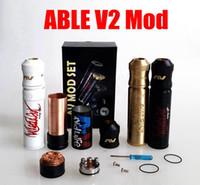 avid design - AV Able V2 Mod Kit clone AVID LIFE AV Torpedo Cap Combo RDA design from CLOUD CHASING ACADEMY for Battery rda