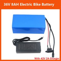 Wholesale 2PCS V W Battery V AH Electric Bike Lithium ion battery with PVC case BMS V A Charger