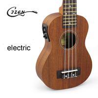 Wholesale NEW Acoustic Electric Tenor Ukulele Inch Guitar Strings Ukelele Guitarra Handcraft Wood White Guitarist Mahogany Plug in