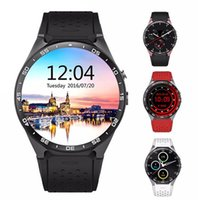Wholesale New Kingwear KW88 Android OS MTK6580 Quad Core Smart Watch Phone Inch Smartwatch Support G WCDMA Nano SIM Wifi Heart Rate