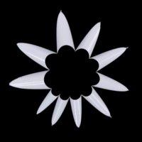 Wholesale 500Pcs Stiletto Point Shape White Acrylic French False Fake Nails Tips UV Gel DIY HSD