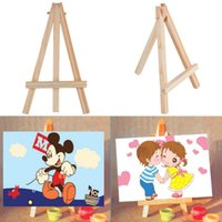 alphabet baby names - Kids Mini Wooden Easel Artist Art Painting Name Card Stand Display Holder Hot Selling