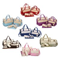 Wholesale Fashion Colors Set High Quality Tote Baby Shoulder Diaper Bags Durable Nappy Bag Mummy Mother Baby Bag Nappy Bags For Mom