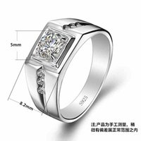 Wholesale US GIA certificate silver rings infinity bramen mens Engagement Rings CZ Diamond wedding engagement jewelry Fine Jewelry