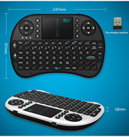 Wholesale Wireless Laser Keyboard gameRii Mini i8 Wireless bluetooth Keyboards game Fly Air Mouse Multi Media Remote Control Touchpad Handheld Android