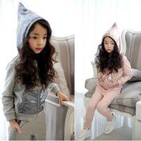 pink zebra - Hug Me Girls Sets Christmas Kids Clothing Autumn Korean Fashion Sequins Tops Pants Pieces ER